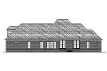 Country Exterior - Rear Elevation Plan #430-34
