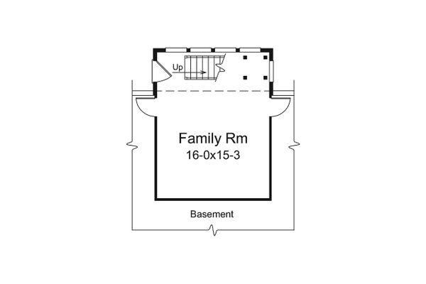 Ranch Floor Plan - Lower Floor Plan Plan #57-667