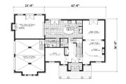 European Style House Plan - 4 Beds 2.5 Baths 2679 Sq/Ft Plan #138-338 Floor Plan - Main Floor Plan
