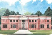 Classical Style House Plan - 5 Beds 4 Baths 5120 Sq/Ft Plan #119-124 Exterior - Front Elevation