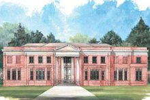 Home Plan - Classical Exterior - Front Elevation Plan #119-124