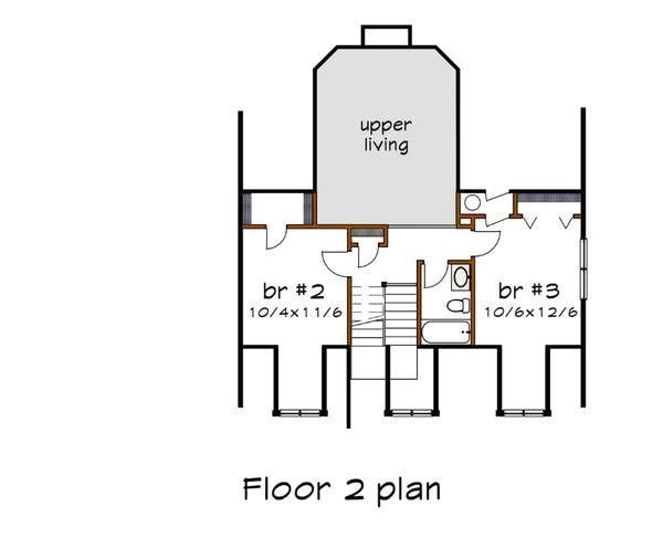 Dream House Plan - Country Floor Plan - Upper Floor Plan #79-221
