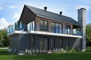 Contemporary Style House Plan - 3 Beds 2.5 Baths 2006 Sq/Ft Plan #23-2648 Exterior - Rear Elevation