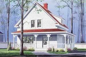 Farmhouse Exterior - Front Elevation Plan #23-214