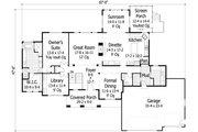 Craftsman Style House Plan - 3 Beds 3.5 Baths 4496 Sq/Ft Plan #51-501 Floor Plan - Main Floor Plan