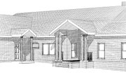 Country Style House Plan - 3 Beds 3 Baths 3121 Sq/Ft Plan #123-111 Exterior - Other Elevation