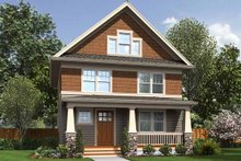 Dream House Plan - Craftsman Exterior - Front Elevation Plan #48-489