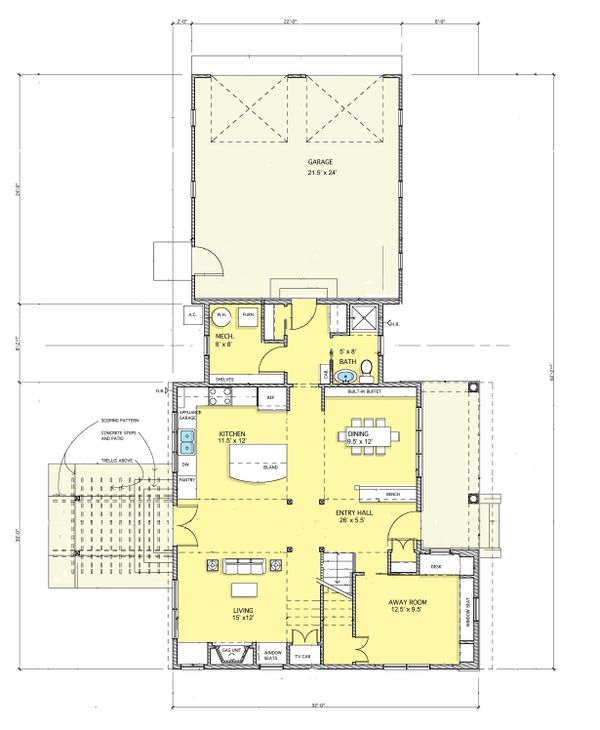Modern Floor Plan - Main Floor Plan Plan #573-1