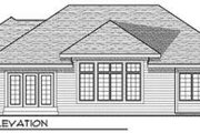 Traditional Style House Plan - 3 Beds 2 Baths 1844 Sq/Ft Plan #70-680 Exterior - Rear Elevation