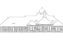 Dream House Plan - Traditional Exterior - Rear Elevation Plan #310-960