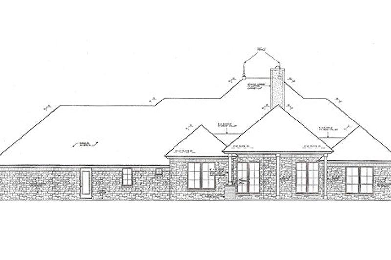Traditional Exterior - Rear Elevation Plan #310-960 - Houseplans.com