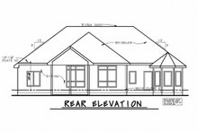 Home Plan - Traditional Exterior - Rear Elevation Plan #20-2307