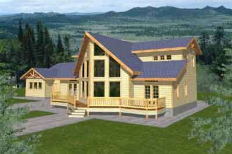 Modern Style House Plan - 3 Beds 2.5 Baths 2288 Sq/Ft Plan #117-303 Exterior - Front Elevation
