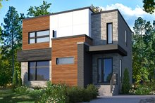 Dream House Plan - Modern Exterior - Front Elevation Plan #23-2702