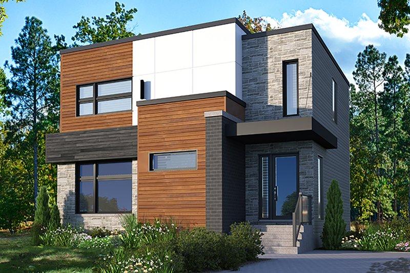 Dream House Plan - Modern Exterior - Front Elevation Plan #23-2702