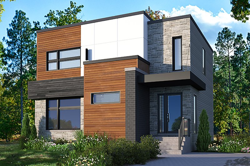 Modern Exterior - Front Elevation Plan #23-2702
