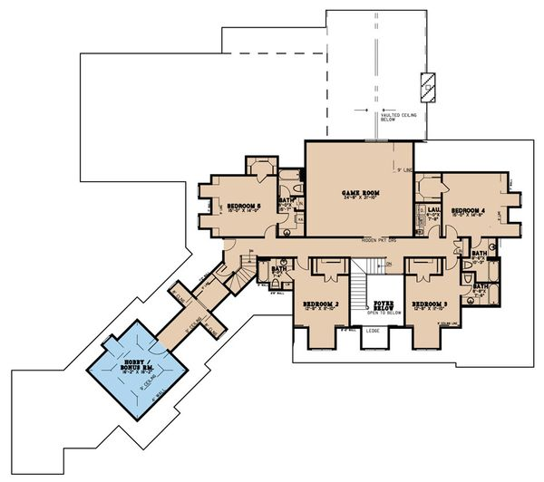 Country Floor Plan - Upper Floor Plan Plan #923-42