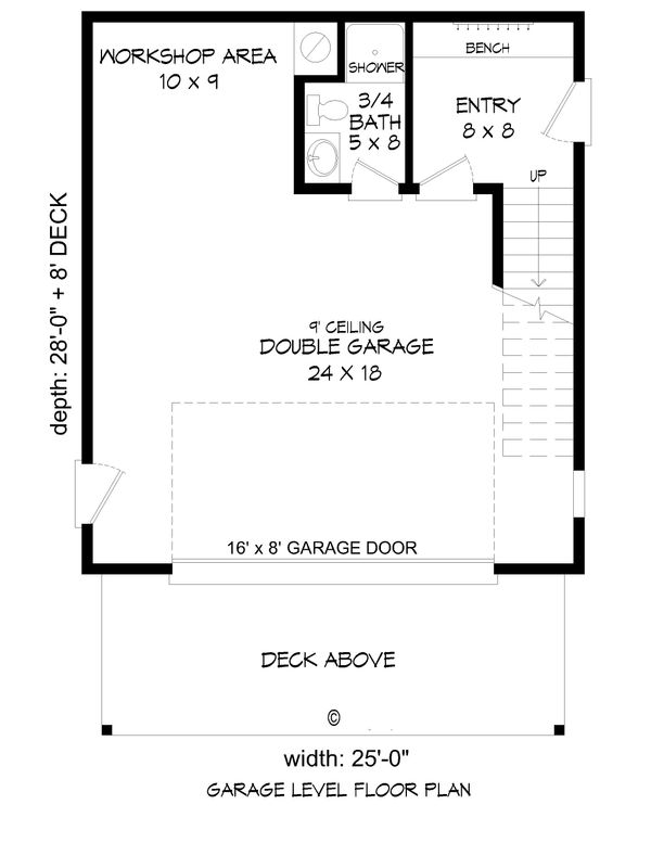 Contemporary Floor Plan - Main Floor Plan #932-216
