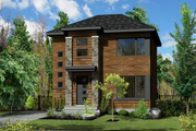 Contemporary Style House Plan - 3 Beds 1 Baths 1246 Sq/Ft Plan #25-4506 Exterior - Front Elevation