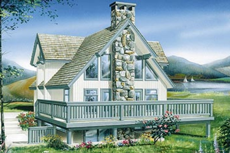 Modern Style House Plan - 3 Beds 2 Baths 1778 Sq/Ft Plan #47-189 Exterior - Front Elevation