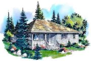 Traditional Style House Plan - 3 Beds 2 Baths 1217 Sq/Ft Plan #18-322 Exterior - Front Elevation
