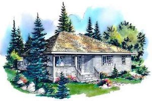 Traditional Exterior - Front Elevation Plan #18-322