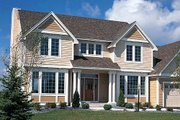 Traditional Style House Plan - 3 Beds 2.5 Baths 2432 Sq/Ft Plan #312-146 Exterior - Front Elevation