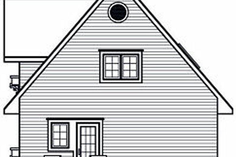 European Exterior - Rear Elevation Plan #23-868 - Houseplans.com