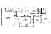 Ranch Style House Plan - 3 Beds 2.5 Baths 1672 Sq/Ft Plan #57-640 Floor Plan - Main Floor Plan