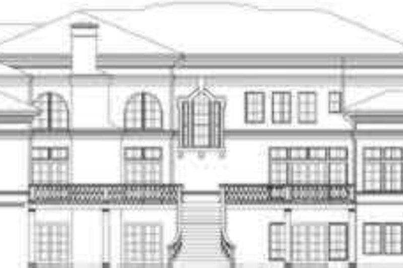 Classical Exterior - Rear Elevation Plan #119-165 - Houseplans.com