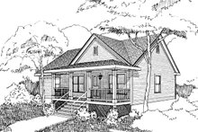 House Plan Design - Country Exterior - Front Elevation Plan #79-118