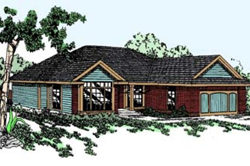 Traditional Exterior - Front Elevation Plan #60-522 - Houseplans.com
