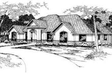 Mediterranean Exterior - Front Elevation Plan #124-277