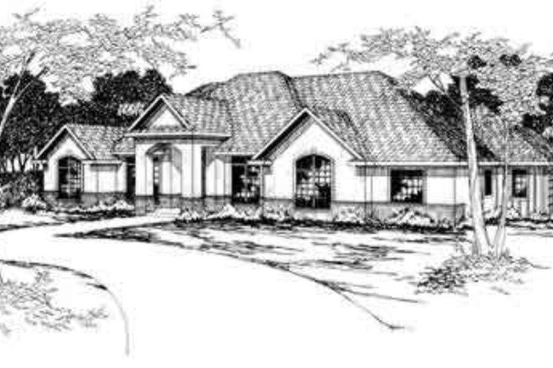 House Design - Mediterranean Exterior - Front Elevation Plan #124-277