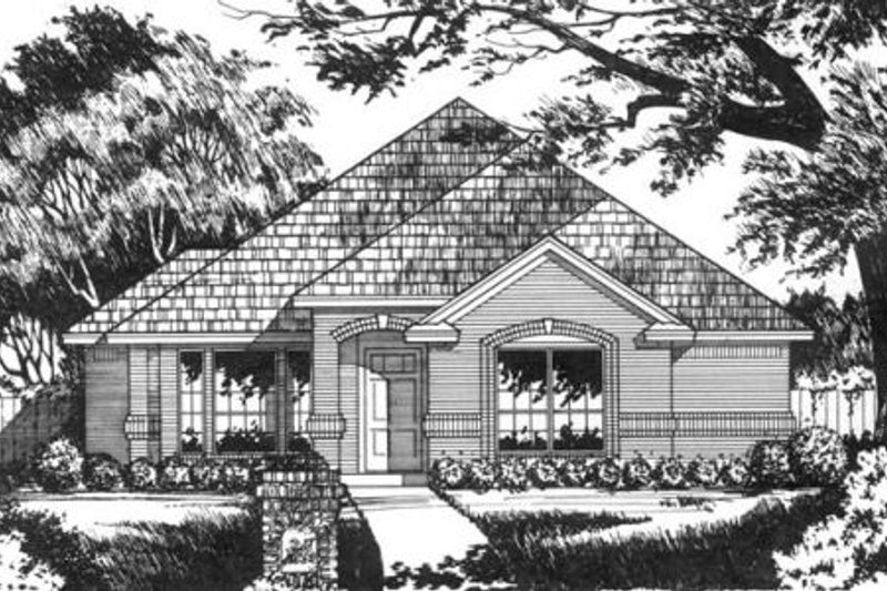 European Exterior - Front Elevation Plan #40-263