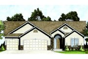 Traditional Style House Plan - 3 Beds 2 Baths 1295 Sq/Ft Plan #58-209 Exterior - Front Elevation