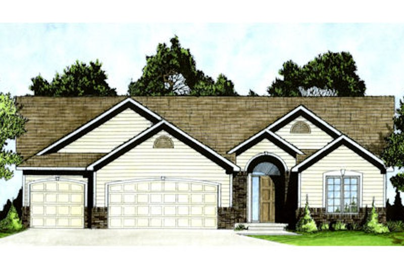 Architectural House Design - Traditional Exterior - Front Elevation Plan #58-209