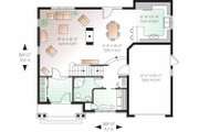 Traditional Style House Plan - 4 Beds 2 Baths 1874 Sq/Ft Plan #23-721 Floor Plan - Main Floor