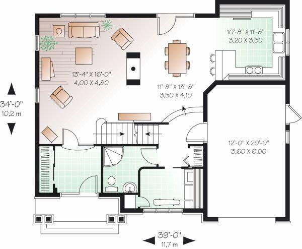 Traditional Floor Plan - Main Floor Plan Plan #23-721