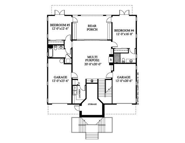 Country Floor Plan - Lower Floor Plan Plan #426-17