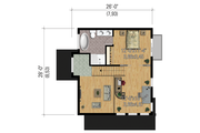 Modern Style House Plan - 2 Beds 2 Baths 1165 Sq/Ft Plan #25-4364 Floor Plan - Upper Floor Plan