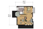 Modern Style House Plan - 2 Beds 2 Baths 1165 Sq/Ft Plan #25-4364 Floor Plan - Upper Floor Plan