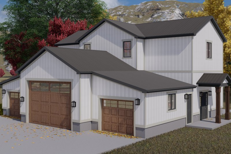 Dream House Plan - Farmhouse Exterior - Front Elevation Plan #1060-118