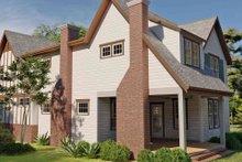 Dream House Plan - Tudor Exterior - Rear Elevation Plan #1079-3