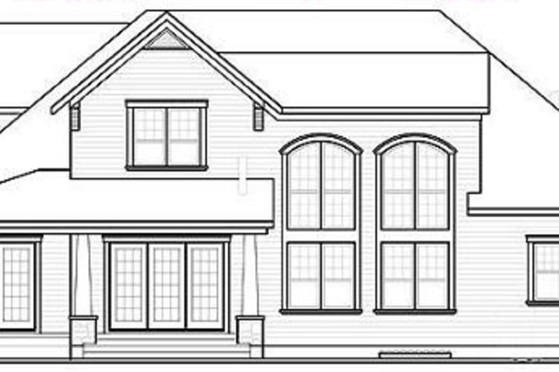 Traditional Exterior - Rear Elevation Plan #23-400 - Houseplans.com