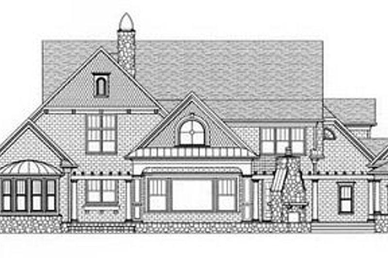 Craftsman Exterior - Rear Elevation Plan #413-122 - Houseplans.com