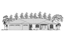 Dream House Plan - Traditional Exterior - Other Elevation Plan #437-15