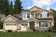 Traditional Style House Plan - 5 Beds 3 Baths 3680 Sq/Ft Plan #132-569 Exterior - Front Elevation