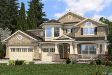 Architectural House Design - Traditional Exterior - Front Elevation Plan #132-569