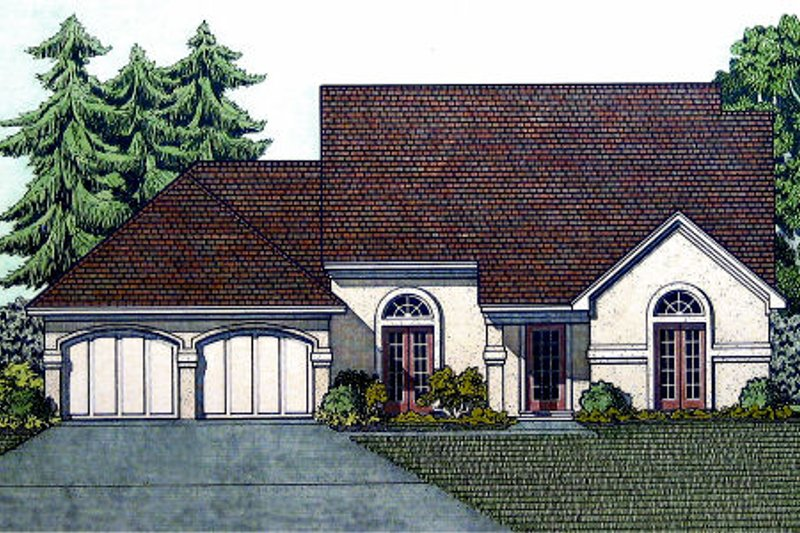 Traditional Exterior - Front Elevation Plan #45-324